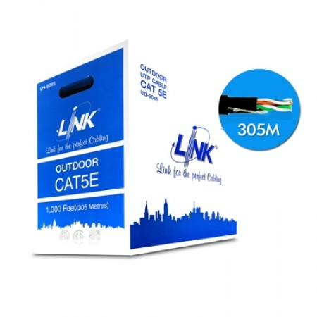 สายแลน CAT5E UTP US-9045 LINK ภายนอก (305ม.)
