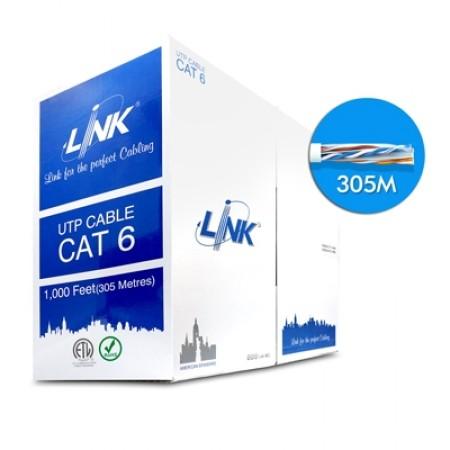 สายแลน CAT6 ULTRA UTP US-9116 LINK (305ม.)